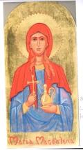 Maria Magdalena (SOLGT) Malet på 23,75 karat bladguld. (Sinaitic gilding)