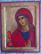 Maria Magdalena, 12 x 18 cm, ægtempera på lindetræ. (SOLGT)