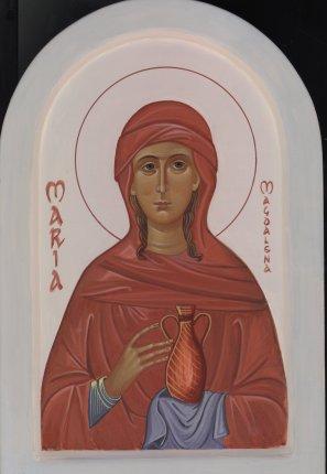 Maria Magdalena (SOLGT) 23 x 27 cm ægtempera på lindetræ